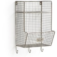 Mesh Metal Wall Shelving Unit