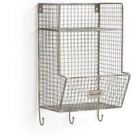 Areglo Metal Wall Locker with 3 Hooks