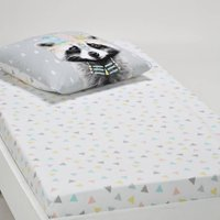 Meiko Pastel Geometric Cotton Fitted Sheet