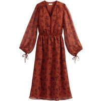 shop for Floral Print Boho Midaxi Dress with Long-Sleeves at Shopo