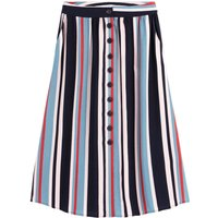 shop for Striped Midaxi Skirt with Pockets at Shopo