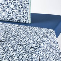 Yucatan Flat Sheet in Tie Print Cotton