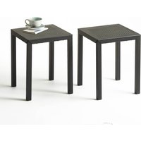 Choe Perforated Metal Stools (Set of 2).