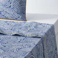Mistral Blue Printed Flat Sheet