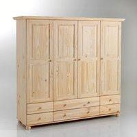 Harold 4-Door Solid Pine Wardrobe