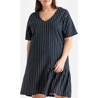 shop for Striped Ruffled Drop Waist Dress at Shopo
