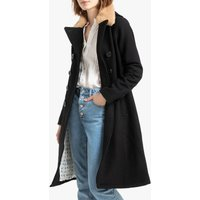 Jkt Mainsail Long Duster Coat in Wool Mix with Faux Fur Collar