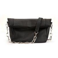 Leather Studded Messenger Bag
