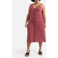 shop for Printed Midi Cami Dress with Button Fastening at Shopo