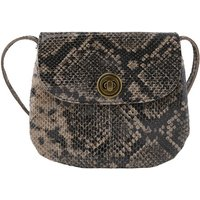 Totally Royal Leather Mini Saddle Handbag with Crossbody/Shoulder Strap