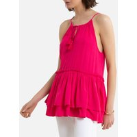 shop for Sleeveless Blouse with Shoestring Straps at Shopo