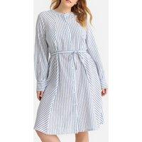 shop for Striped Tie-Waist Dress at Shopo