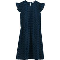 shop for Ruffled Cotton Dress with English Ebroidery at Shopo