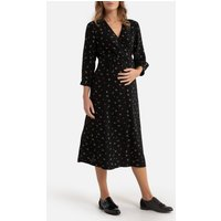 shop for Printed Maternity Midi Dress with Long Sleeves at Shopo