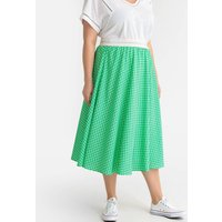 shop for Checked Pleated Midaxi Skirt at Shopo