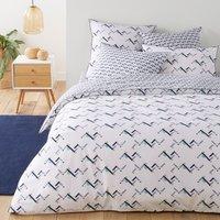 Liam Duvet Cover in Geometric Print Cotton Percale