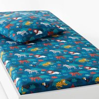 DIEGO Children € ™s Animal Print Cotton Fitted Sheet