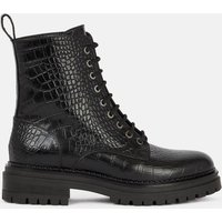 Ammara Lace-Up Leather Ankle Boots