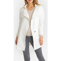 Short Trench Coat with Pockets