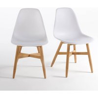 Set of 2 Jimi Garden Chairs with Shell Seat