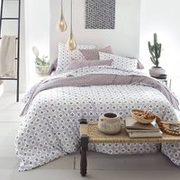 Zehia Printed Cotton Percale Fitted Sheet