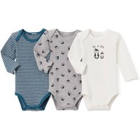 Pack of 3 Long-Sleeved Bodysuits, Birth - 3 Years