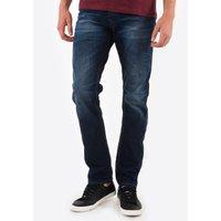 Straight Leg Regular Fit Cotton Mix Jeans