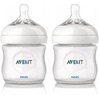 Set of 2 Natural 125ml Feeding Bottles,SCF690/27