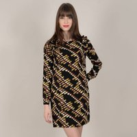 shop for Printed Shift Dress with Long Sleeves at Shopo