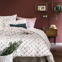 ELKA Patterned Cotton Percale Duvet Cover