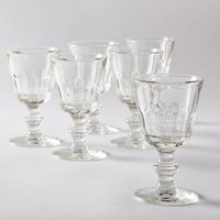 Set of 6 Ibidem Patterned Wine Glasses