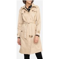 Cotton Trench Coat with Water-Repellent and Stain-Resistant Treatment