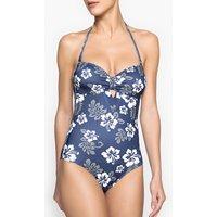 Hawaiian Print Bandeau Swimsuit