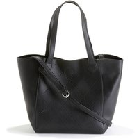 Perforated Leather Effect Shopper