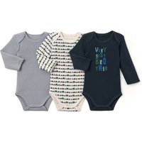 Pack of 3 Cotton Mix Bodysuits, Birth-3 Years