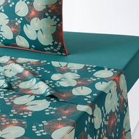 JARDIN D € ™EAU Cotton Percale Flat Sheet