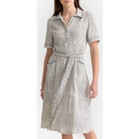 shop for Paisley Print Shirt Dress with Tie-Waist at Shopo