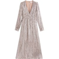 shop for Sequin Midi Dress with Long Sleeves at Shopo