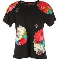 Floral Print Short-Sleeved Crew Neck T-Shirt
