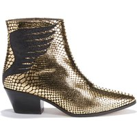 Stivali oro/nero donna Boots in pelle Exclusivité Brand Boutique