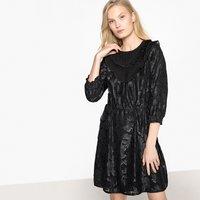 shop for Ruffled Jacquard Party Dress at Shopo
