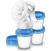 SCF330/13 Manual Breast Pump + 3 Storage Pots