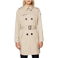 Cotton Double-Breasted Trench Coat with Pockets