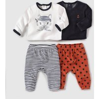Pack of 2 Velour 2-Piece Sleepsuits Birth-3 Years