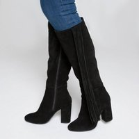 Leather Boots with Tassels