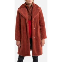 Mid-Length Coat with Press-Stud Fastening.