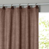 Nelson Tweed-Look Leather Tab Single Curtain