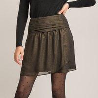 Draped Wrapover Mini Skirt