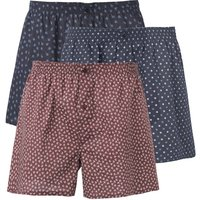 Pure Cotton Printed Boxer Shorts (Pack of 3)