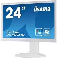 Ecran iiyama 23.6 LED - ProLite B2480HS-W2 - 1920 x 1080 pixels - 5 ms - Format large 16/9 - Pivot - HDMI - Blanc